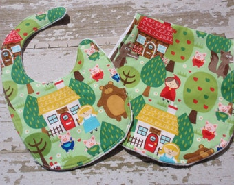 Ready to Ship-The Couture Mama Gift Set-  burp cloth and bib
