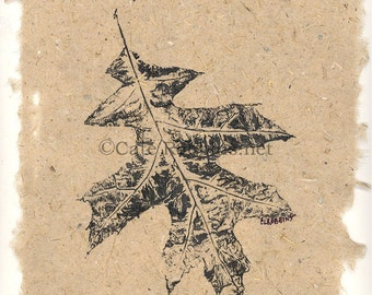 The Simple Things - Leaves on Handmade Paper