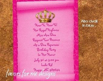 20 Royal Diva Invitations