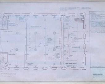 Vintage NYC Judson Church 1977 Blueprint