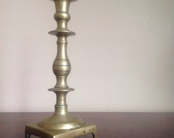 Vintage Brass Candlestick Holders. Made in England.