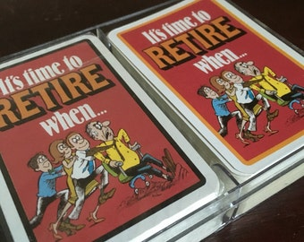Retirement Playing Cards.