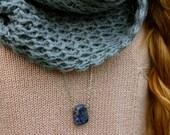 Lapis Lazuli Blue Stone Necklace.