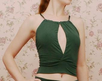 womens plunging camisole - GEM sleepwear range - made to order