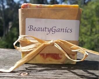 Organic * Goat Milk Grapefruit Spearmint Soap* Handmade BeautyGanics  5oz