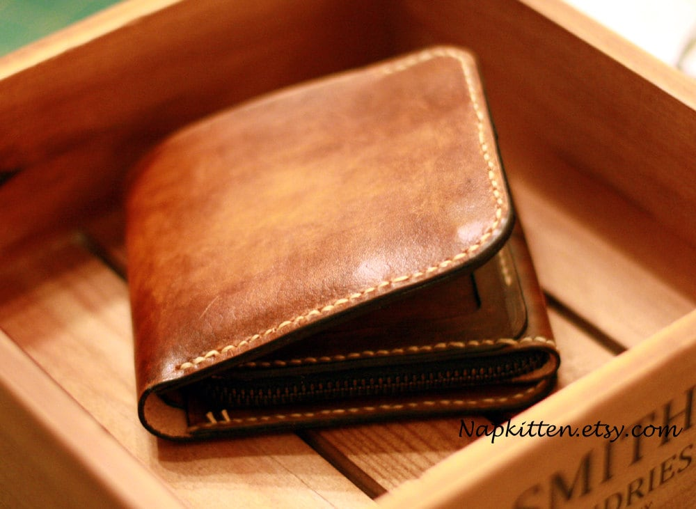 Bi fold wallet leather pattern leather wallet pattern