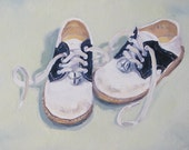 Reserved for Jennifer. Crawford's Shoes, a commissioned 12 x 12 x 1.5 inch oil painting on canvas. Yvonne Wagner. Commissioned painting.