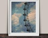 Sky is Full of Dreams Ferris Wheel Art Print