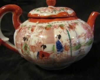 Antique Japanese Geishas Tea Pot, Made in Japan, Geisha Teapot, Vintage Hand Painted Geisha Teapot, Japan Made Teapot Geisha Girls