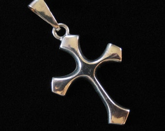 2 Inch Sterling Silver Cross, Mexico Sterling Silver Solid Cross