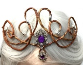 Her Majesty Fairy Queen crown-Purple and Silver