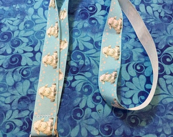 Adorable Lambs or Sheep ID Lanyard or clip to your cell phone or keys