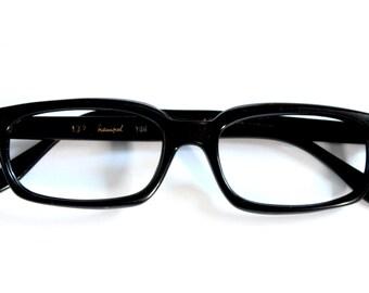 Vintage 1950s Frames // 50s 60s Black Eyeglass Frames // Mad Men Glasses // Coame Company // Hampel // MG002