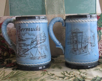 Great Nautical and Police Themed Bermuda Souvenir Salt and Pepper Shakers