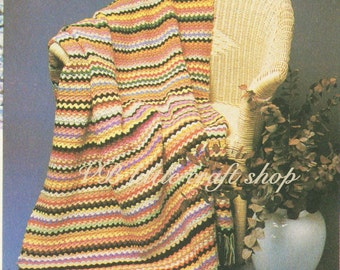 Afghan crochet pattern. Instant PDF download!