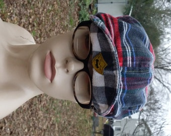 80s Break Dancing Hat by Skids/ 80s Hat/ Plaid Hat/ Skids Hat/ Vintage Hat/ Vintage Cap