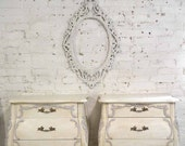 RESERVED Painted Cottage Chic Shabby Romantic French Bombay Night Table
