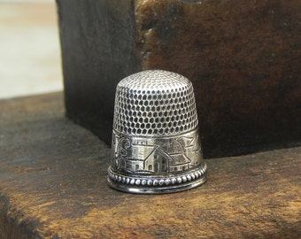 Vintage Sterling silver Thimble size 7