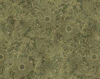 Green Toile Fabric Etsy