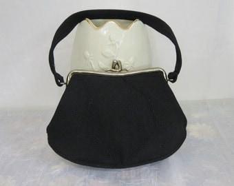 1940's Rare Genuine Black cord purse from Roum California