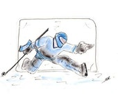 RESERVED 4 sets of five cards Hockey Goalie personalized