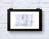 Abstract Art, Neuro Science inspired office wall art  blues and greens geeky Giclee on cotton rag paper Limited Edition Neuro_9t