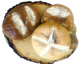 Rustic Fake French Bread Rounds - Fake Bread Props