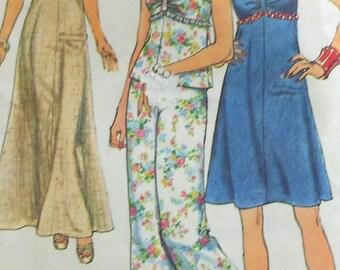 Vintage Dress Sewing Pattern UNCUT Simplicity 6387 Size 12