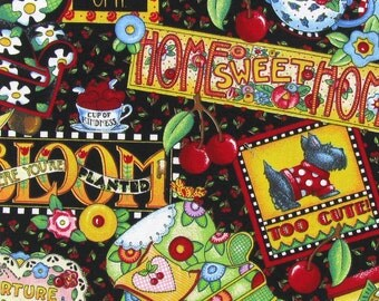 Mary Engelbreit Home Sweet Home Quilting Fabric--HARD Find.