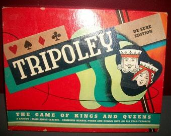 Vintage Cadaco Tripoley Mat Hearts Poker Rummy