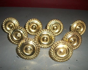 Vintage Gold Cabinet Knobs Drawer Pulls Braided Twist Border