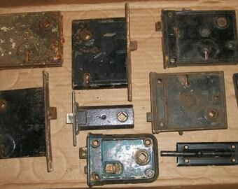 Vintage Lot of Door Locks Parts