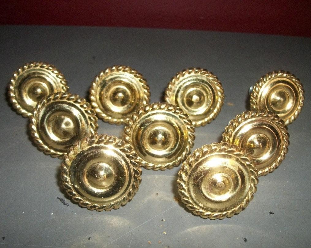 Vintage Gold Cabinet Knobs Drawer Pulls Braided Twist