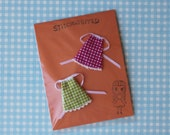 Petite Blythe Dresses Pair - gingham - raspberry and lime