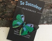 Blue Green and Black Butterly Brooch