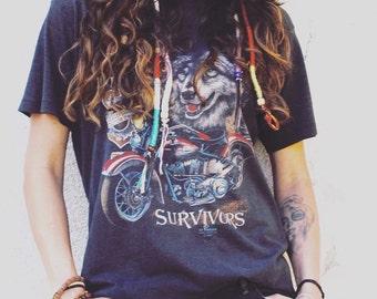 Vintage 1991 Survivors Harley Davidson shirt- Size Large