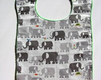 Large Food Bib  Baby to Toddler  Emberly Elephants