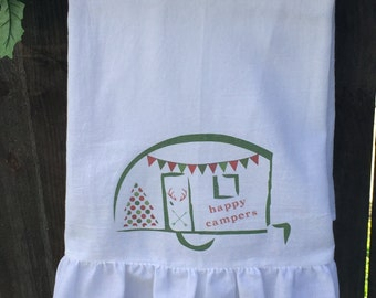 Christmas, Floursack, Tea Towel (camper)