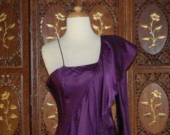 DY ANNE Purple Silk Evening Gown Sz 10