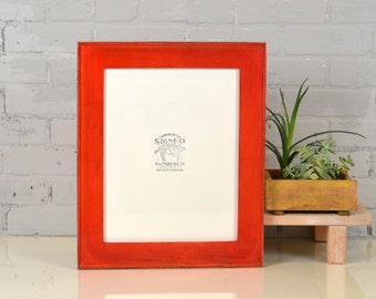 11 x 14 Picture Frame in Oslo Slope with Vintage Red Dye Finish - IN STOCK - Same Day Shipping - 11x14 Sale Frames