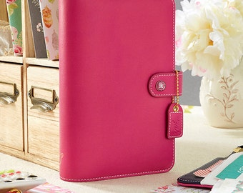 Fuchsia Webster's Pages Color Crush Personal Binder Planner