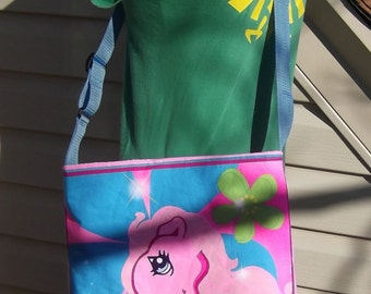 My Little Pony Slouch Bag --   Meduim Sized   Vintage  Cross- Body Adjustable  Hasbro  Pinky Pie   Star Catcher