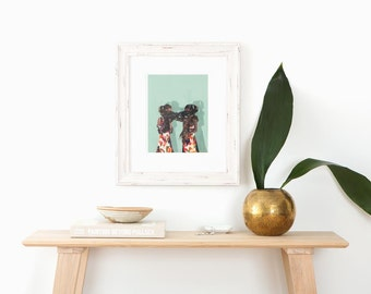 Friendship . giclee art print in all sizes