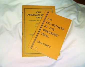 Vintage 1930s Court Trials Books • An Eye-Witness At The Wreckers' Trial & Our American Dreyfus Case