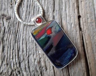 Ocean Dusk necklace - art glass