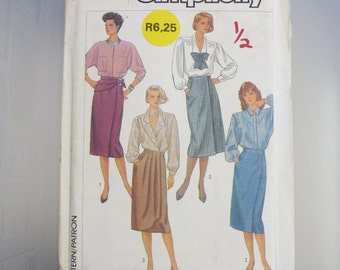Simplicity vintage skirt sewing pattern