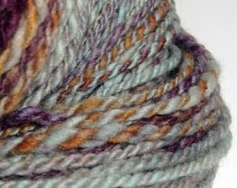 "Handspun Yarn, Hand Dyed Merino Yarn ""Anticipation"" Merino Yarn - 2 Ply"