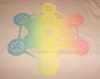 T-Shirt - Metatron's Elements (Rainbow Fade on Sand)