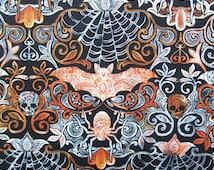 Wicked Halloween Motifs Bat Autumn Fall Timeless Treasures Fabric Yard