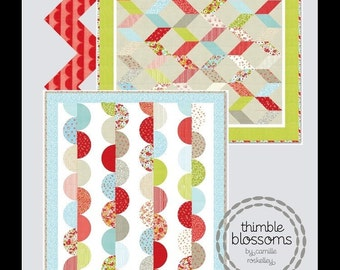 PATTERN SALE.... Thimble Blossoms In a Jiffy Pattern, layer Cake Pattern